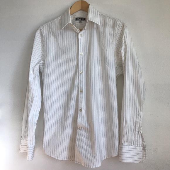Express Other - Men's Express Stripe Button Down Shirt